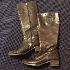 Etienne Aigner chocolate brown riding boots